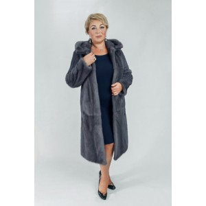 Пальто из меха норки