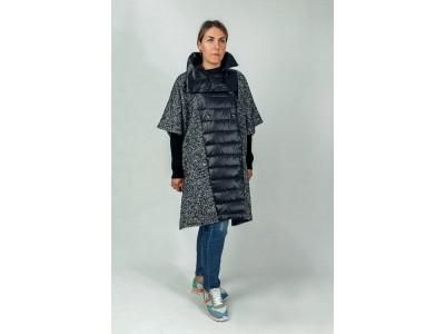 Пальто комбинированное